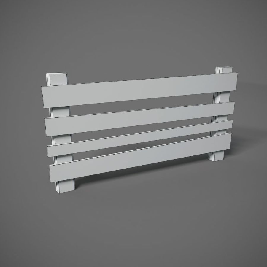 Low Poly Fence royalty-free 3d model - Preview no. 4