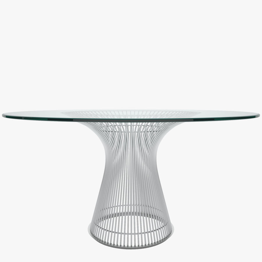 Platner Dining Table Royalty Free 3d Model   Preview No.