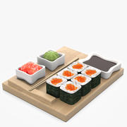 Rolls with Salmon 3d model