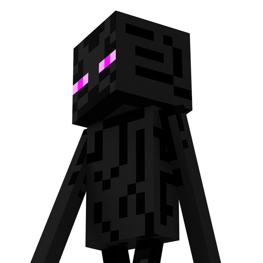 Minecraft Enderman 3d Model 19 C4d Ma Max Obj Fbx