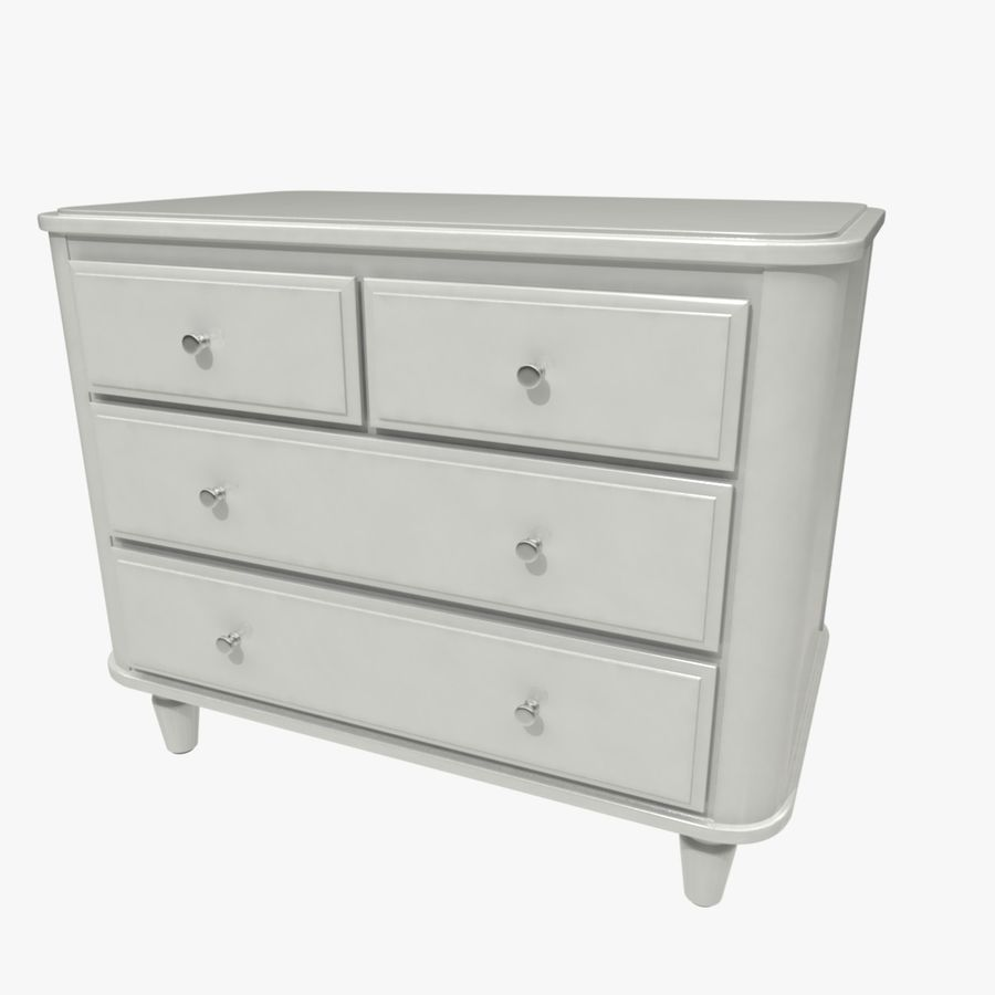 Chest of drawers royalty-free 3d model - Preview no. 1