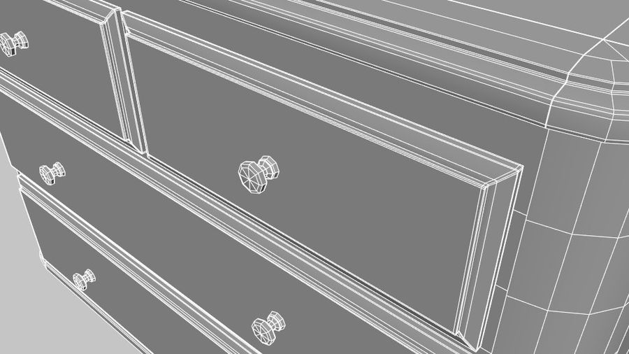 Chest of drawers royalty-free 3d model - Preview no. 9