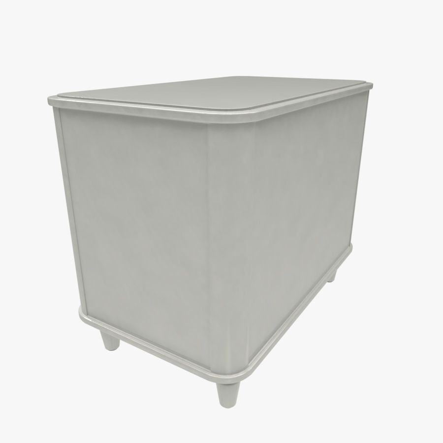 Chest of drawers royalty-free 3d model - Preview no. 4