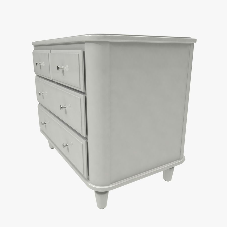 Chest of drawers royalty-free 3d model - Preview no. 2