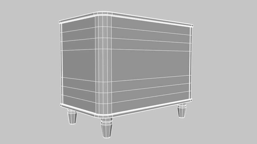 Chest of drawers royalty-free 3d model - Preview no. 13