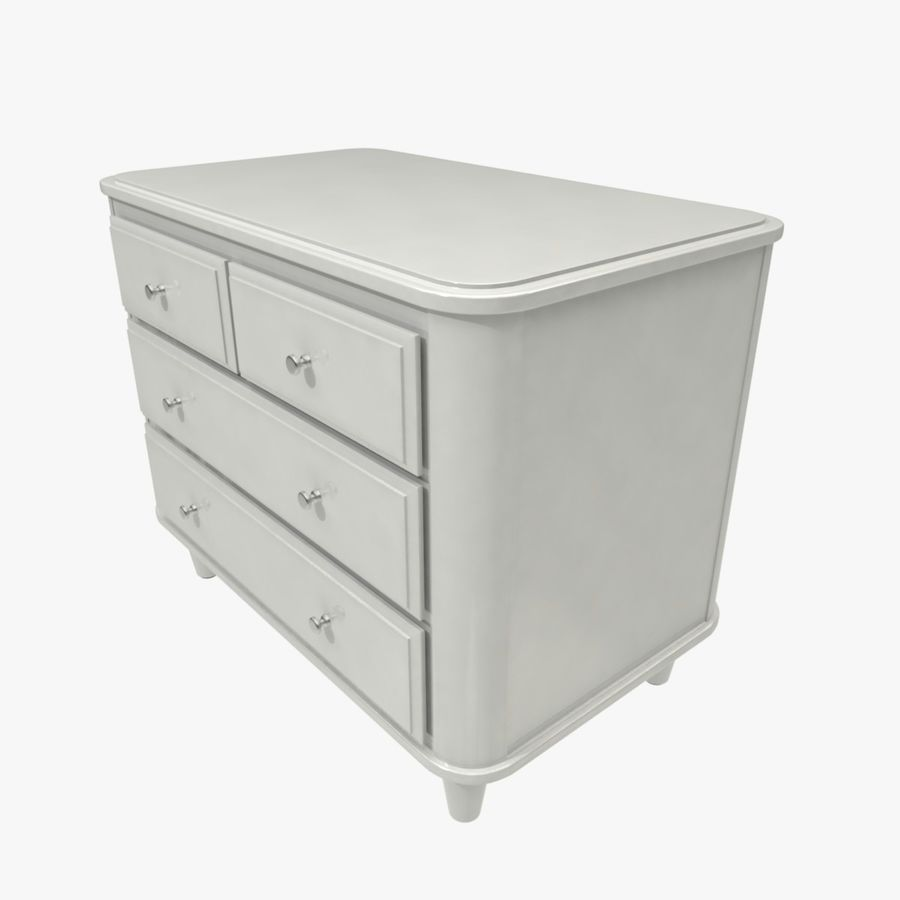 Chest of drawers royalty-free 3d model - Preview no. 3