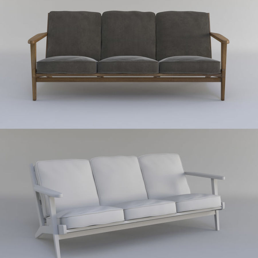 Brooks Long Chair (Brooks Sofa) Royalty Free 3d Model   Preview No.