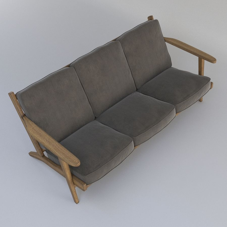 Brooks Long Chair (Brooks Sofa) royalty-free 3d model - Preview no. 3