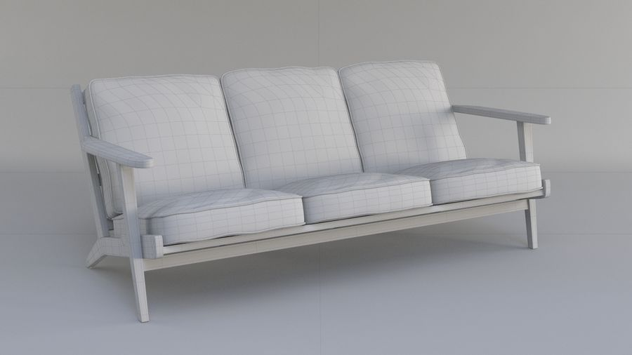 Brooks Long Chair (Brooks Sofa) royalty-free 3d model - Preview no. 5
