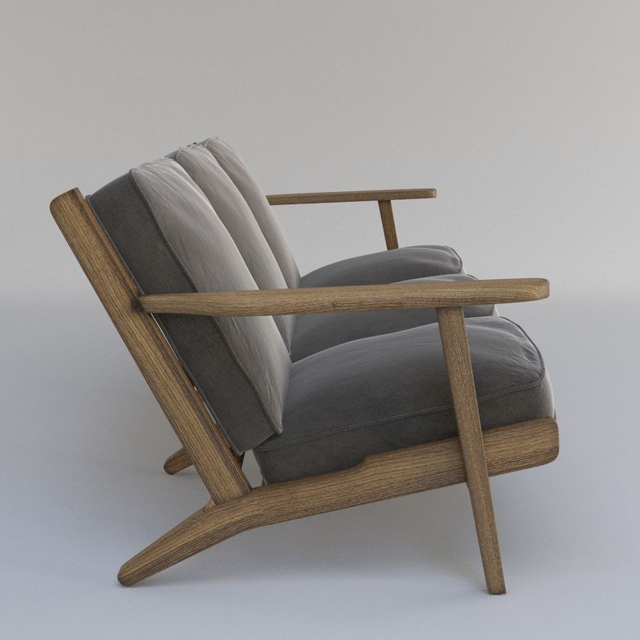 Brooks Long Chair (Brooks Sofa) royalty-free 3d model - Preview no. 4