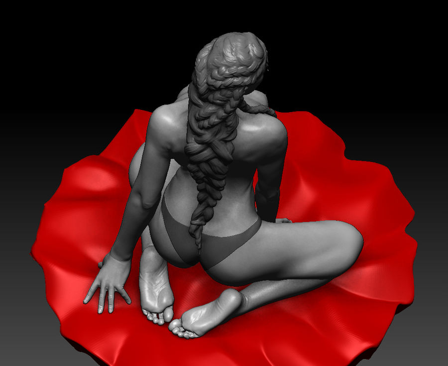 Sexy mulher posou (2) royalty-free 3d model - Preview no. 6