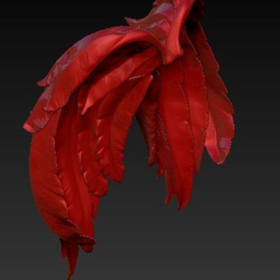 Angel wings royalty-free 3d model - Preview no. 1