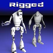 Rigged guard robot 3d model