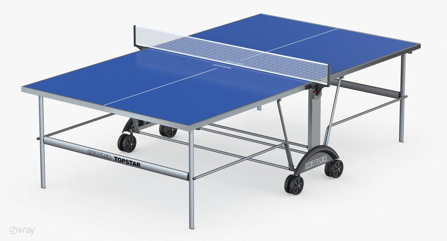 Kettler Top Star Xl Outdoor Table Tennis Table 3d Model