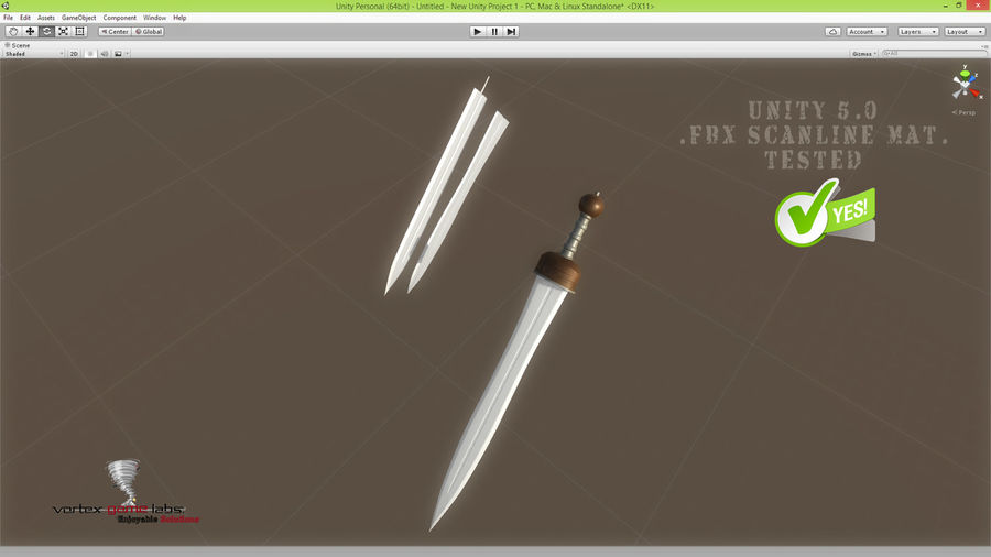 Gladius Roman Sword royalty-free 3d model - Preview no. 21