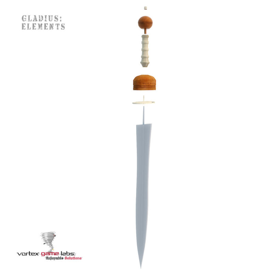 Gladius Roman Sword royalty-free 3d model - Preview no. 20