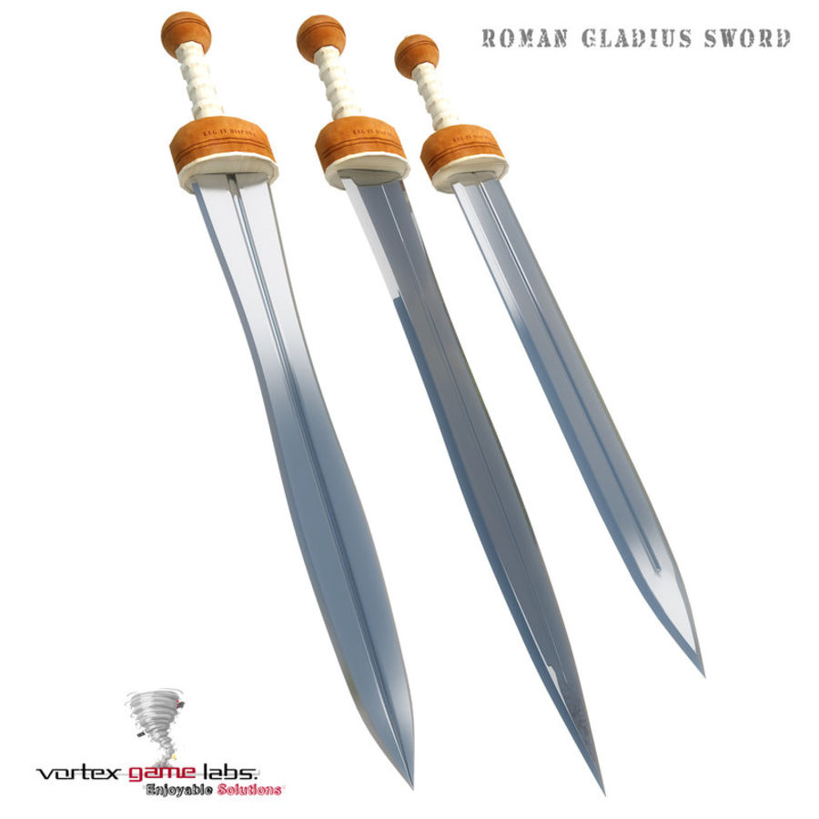 Gladius Roman Sword royalty-free 3d model - Preview no. 1