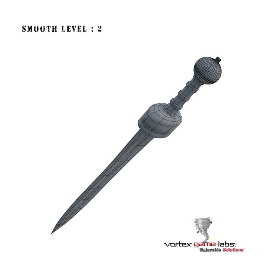 Gladius Roman Sword royalty-free 3d model - Preview no. 19