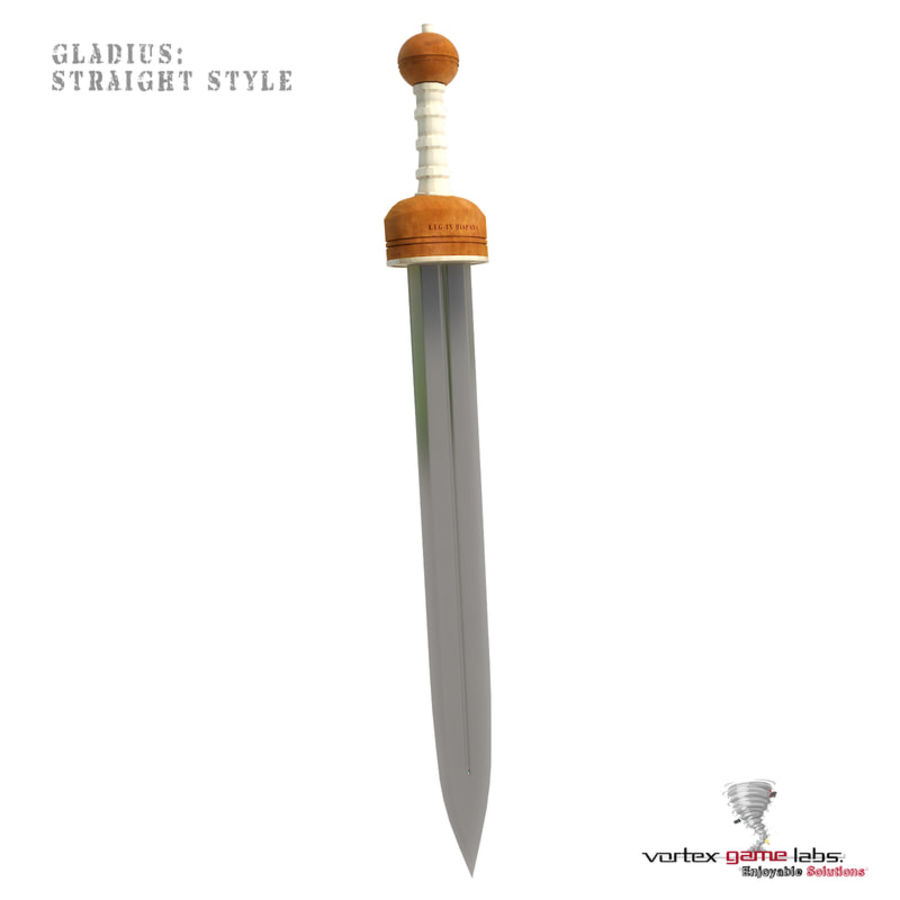 Gladius Roman Sword royalty-free 3d model - Preview no. 6