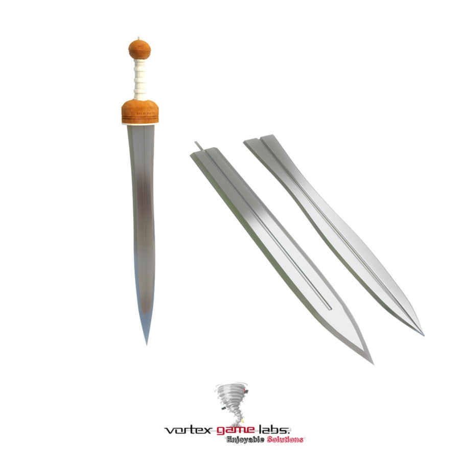 Gladius Roman Sword royalty-free 3d model - Preview no. 14