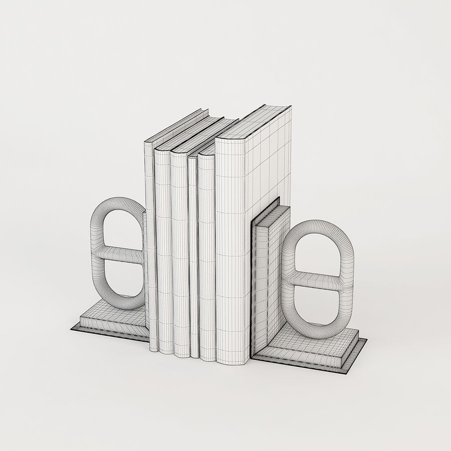 Eichholtz Bookend Nevis royalty-free 3d model - Preview no. 5