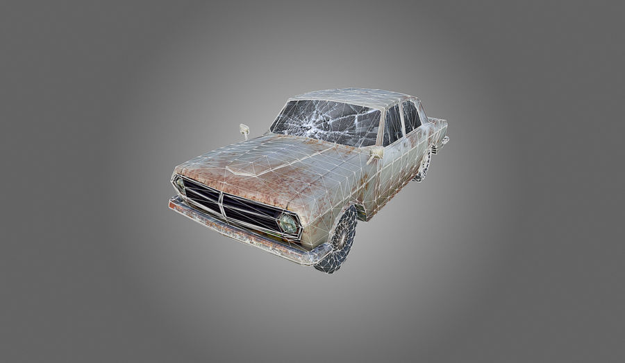 Volga Low-Poly royalty-free 3d model - Preview no. 8