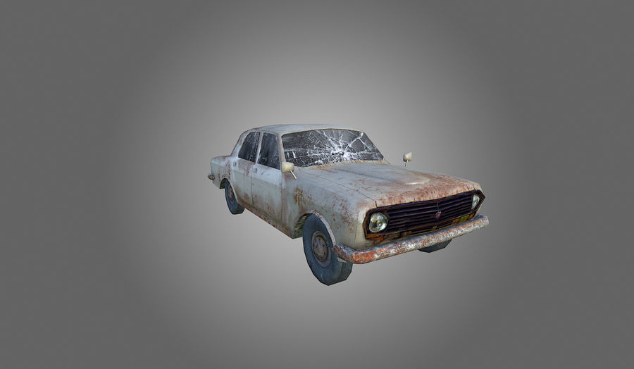 Volga Low-Poly royalty-free 3d model - Preview no. 2