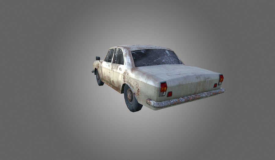 Volga Low-Poly royalty-free 3d model - Preview no. 7