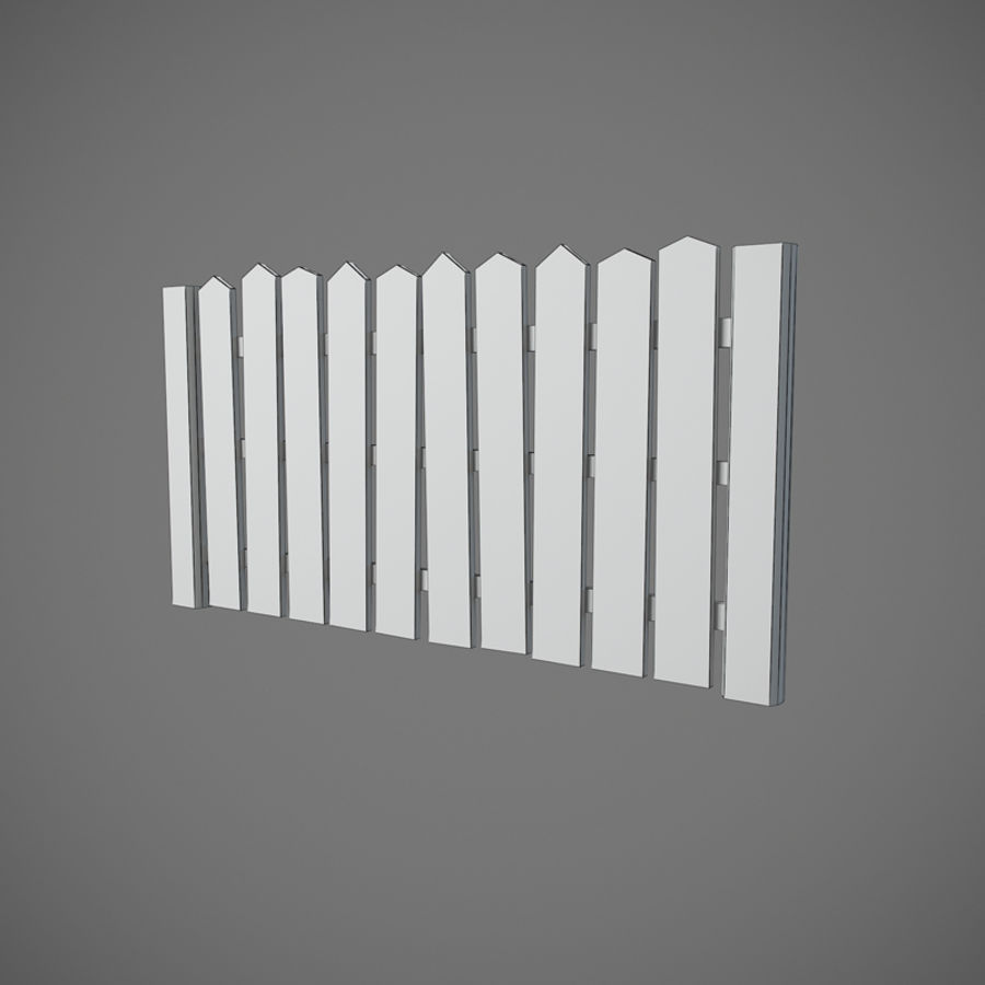 Old Fence royalty-free 3d model - Preview no. 5