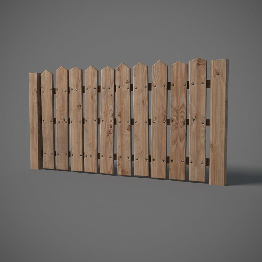 Old Fence royalty-free 3d model - Preview no. 4