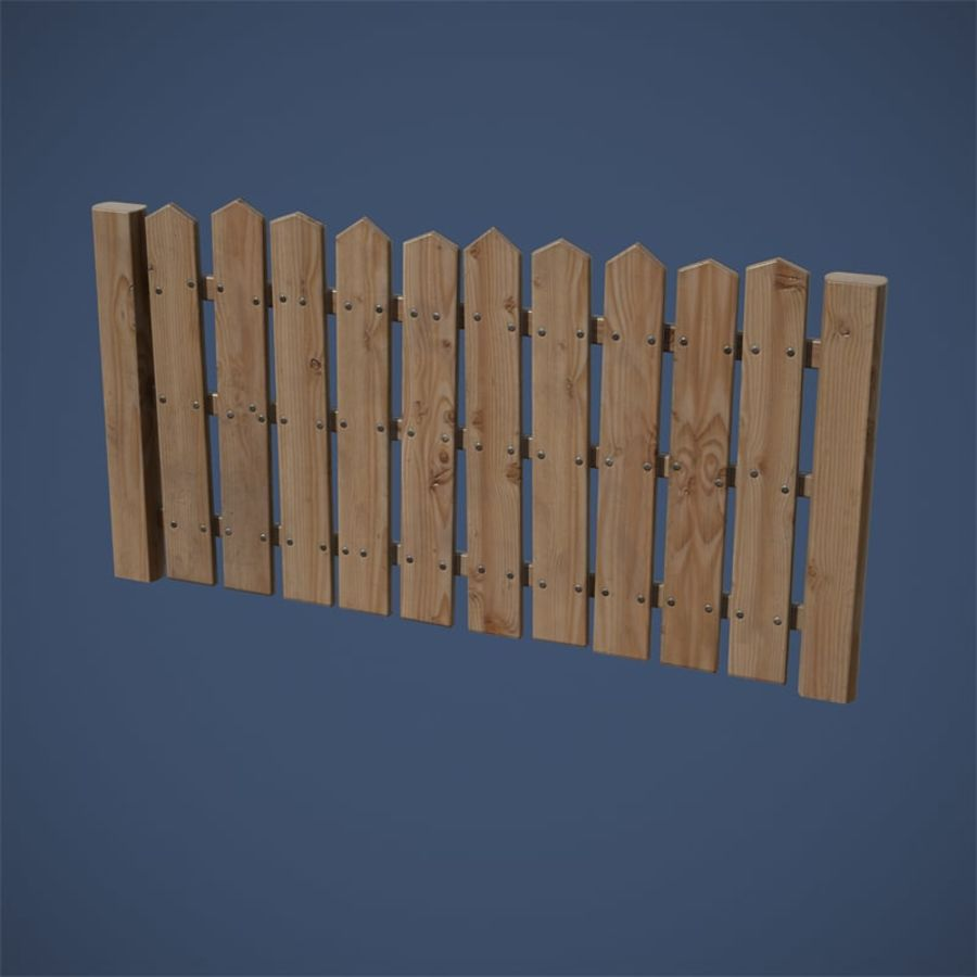 Old Fence royalty-free 3d model - Preview no. 15