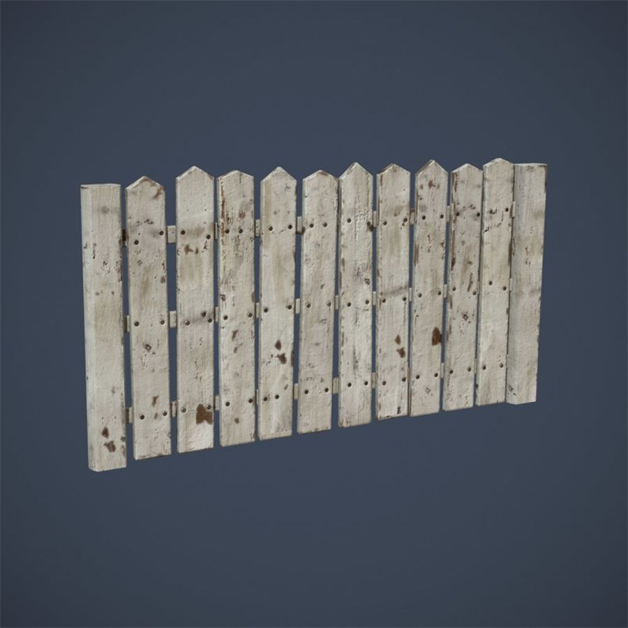 Old Fence royalty-free 3d model - Preview no. 11
