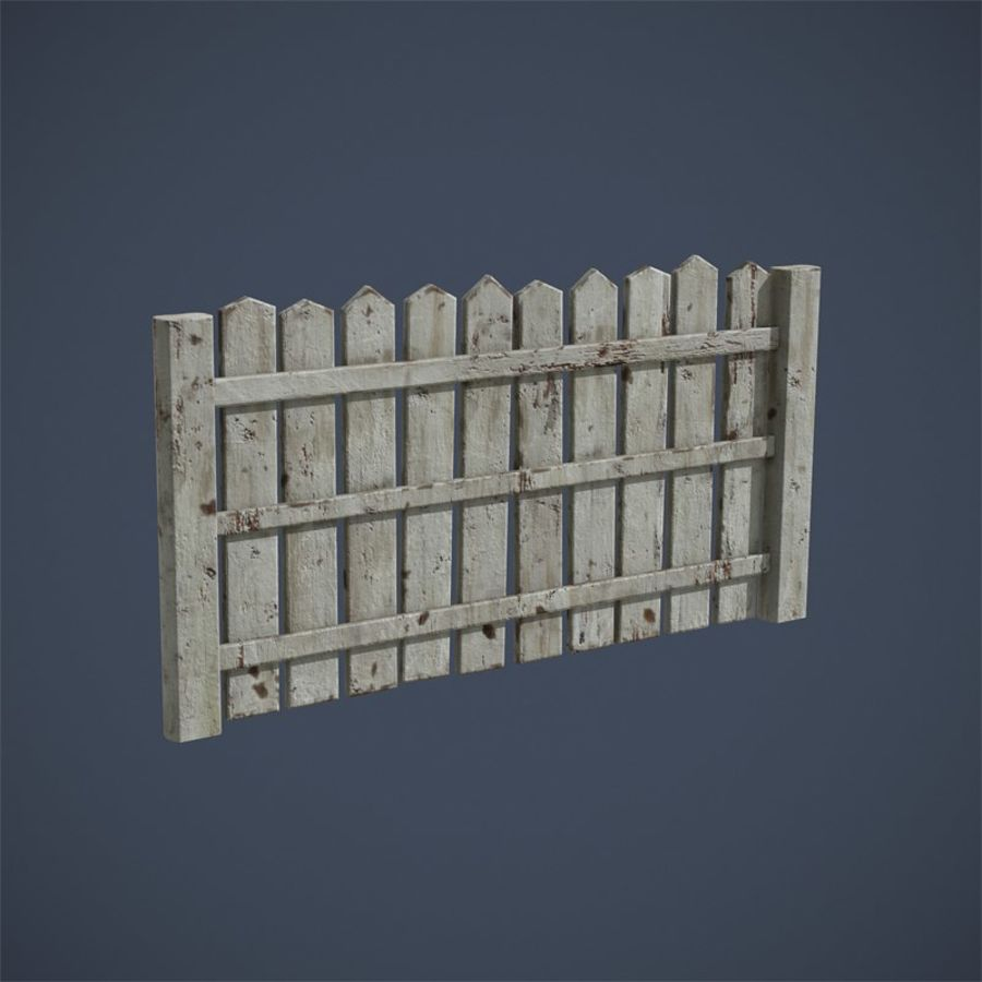 Old Fence royalty-free 3d model - Preview no. 13