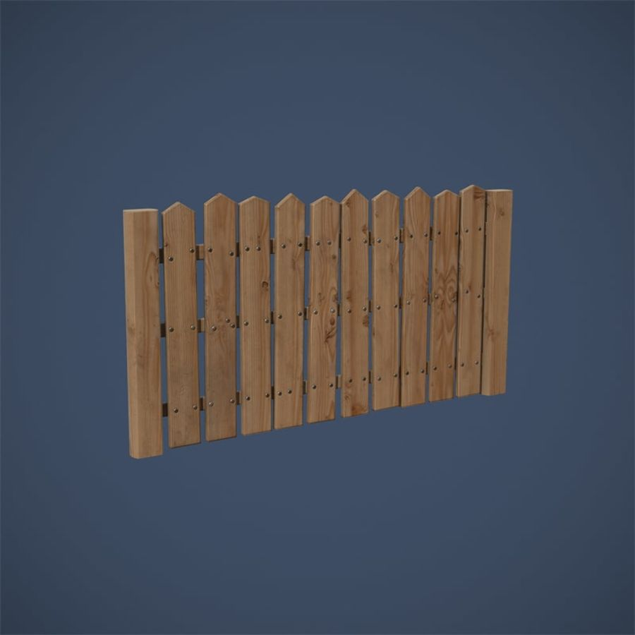 Old Fence royalty-free 3d model - Preview no. 14