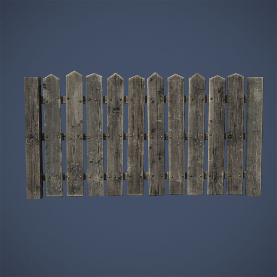 Old Fence royalty-free 3d model - Preview no. 9