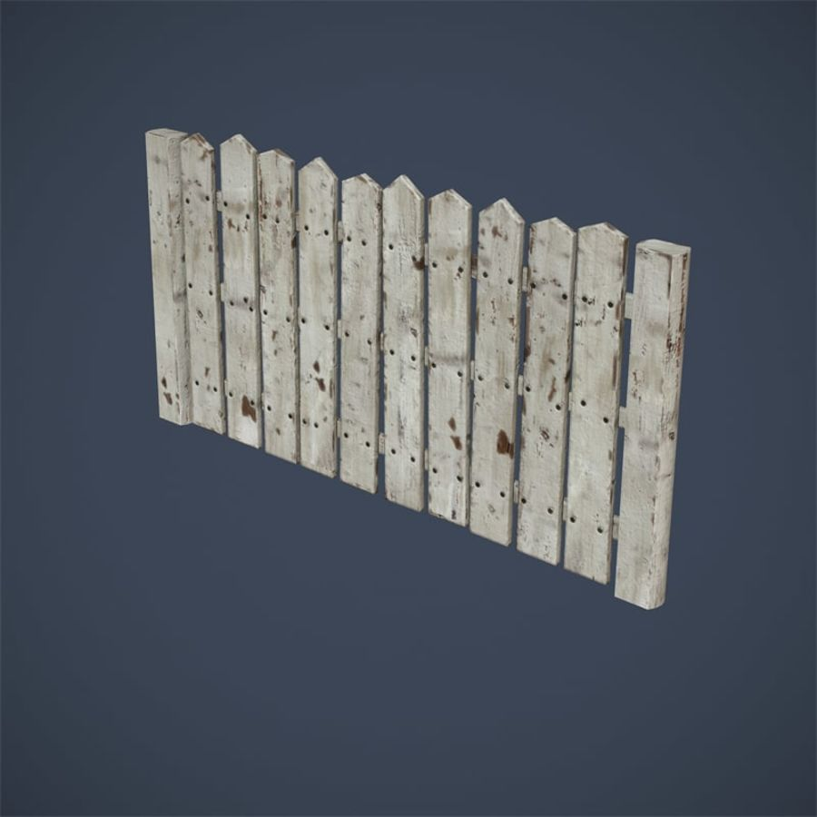 Old Fence royalty-free 3d model - Preview no. 12
