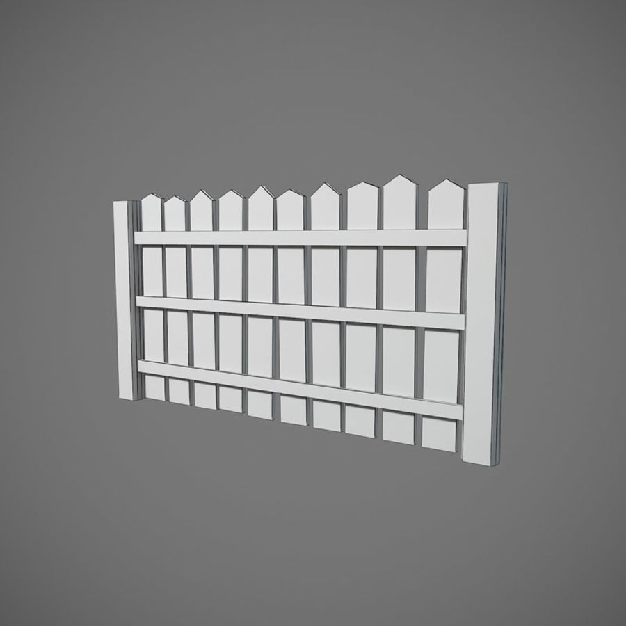 Old Fence royalty-free 3d model - Preview no. 6