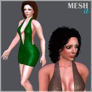 Mulher maltratada 3d model