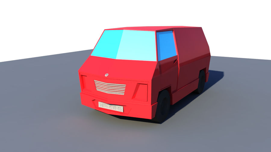 Low Poly Van royalty-free 3d model - Preview no. 1