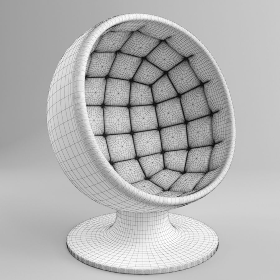 Ball Chair Royalty Free 3d Model   Preview No. 3
