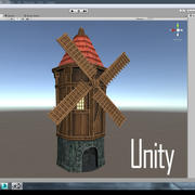 Mill low poly 3d model