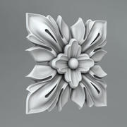 Square Decoration 32 3d model