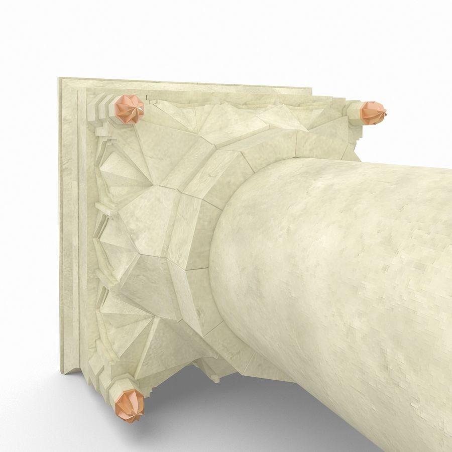 Column Muqarnas royalty-free 3d model - Preview no. 4