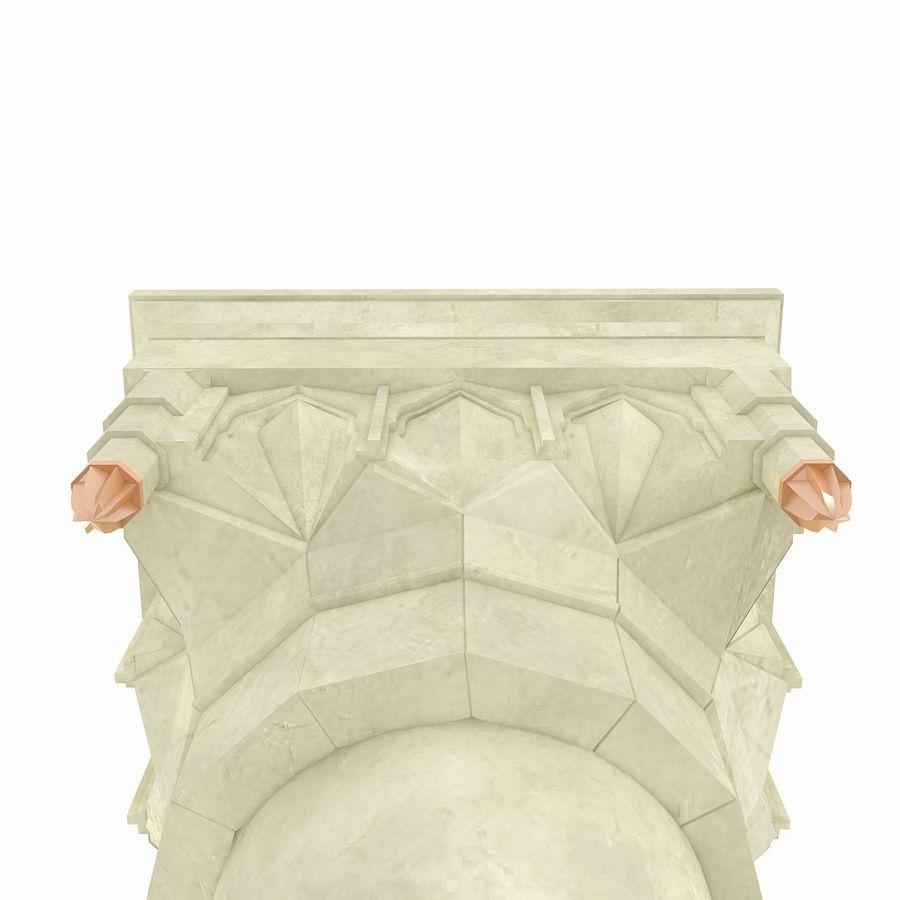 Column Muqarnas royalty-free 3d model - Preview no. 6