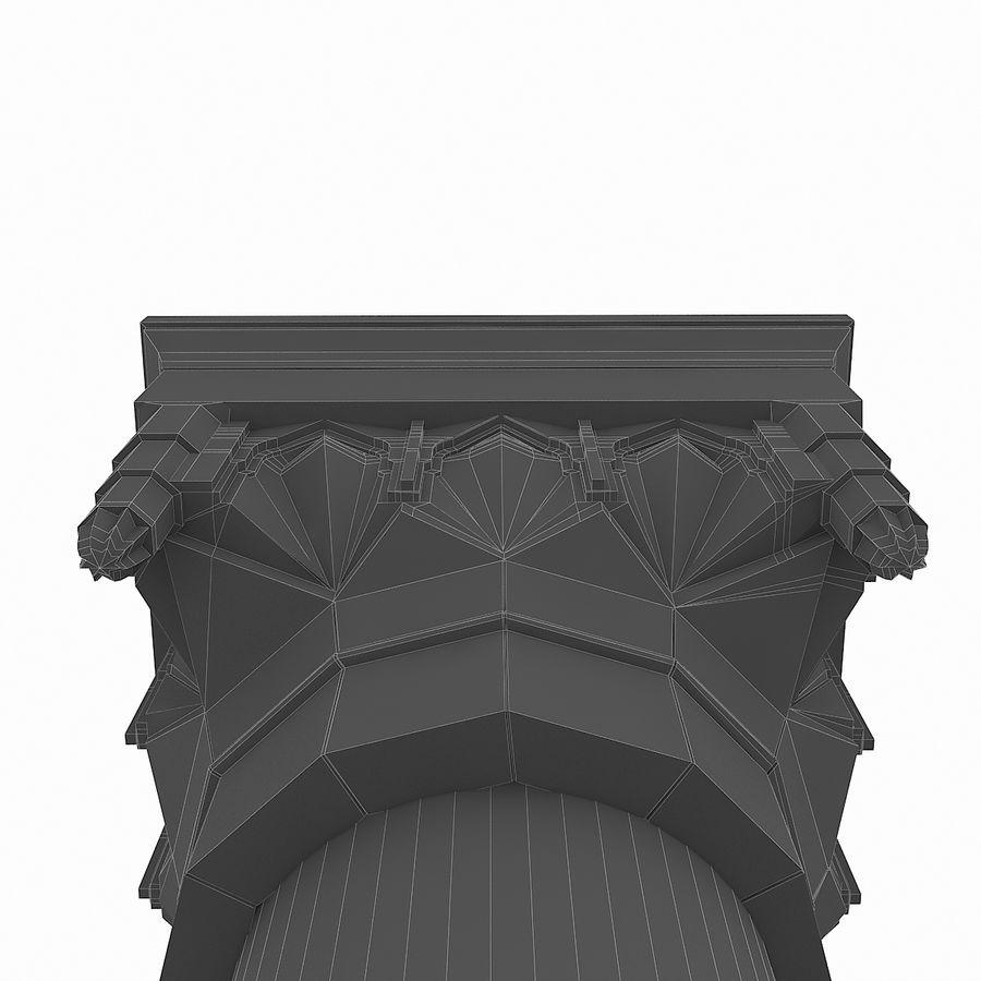 Column Muqarnas royalty-free 3d model - Preview no. 7
