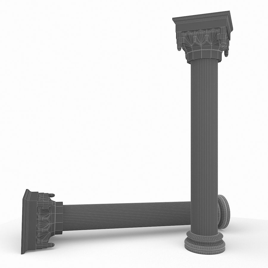 Column Muqarnas royalty-free 3d model - Preview no. 5