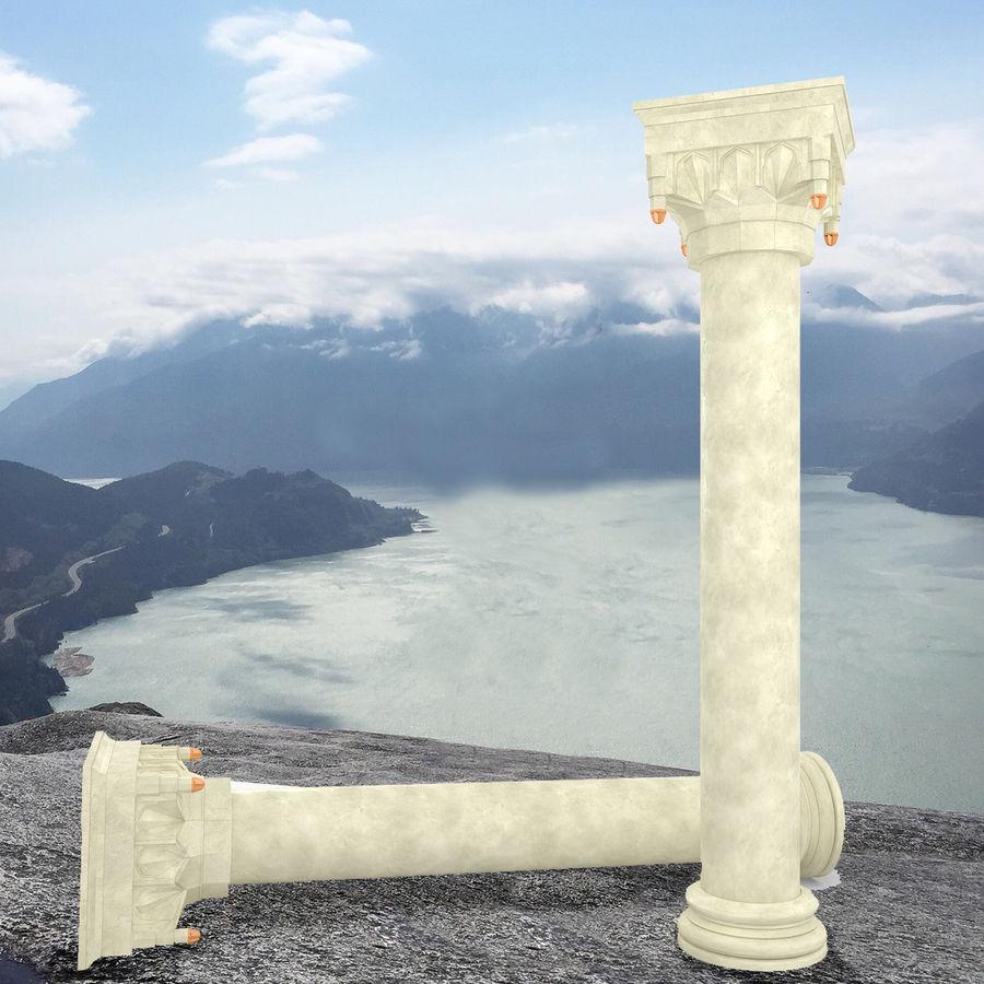 Column Muqarnas royalty-free 3d model - Preview no. 2