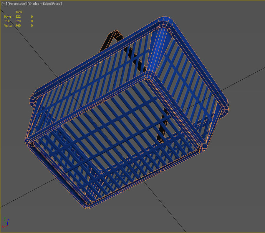 Basket royalty-free 3d model - Preview no. 5