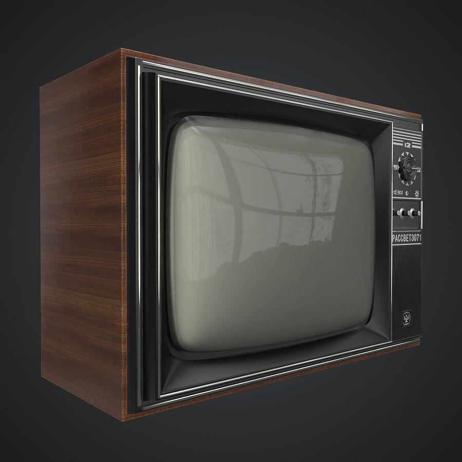 Old Soviet TV 3D Model $24