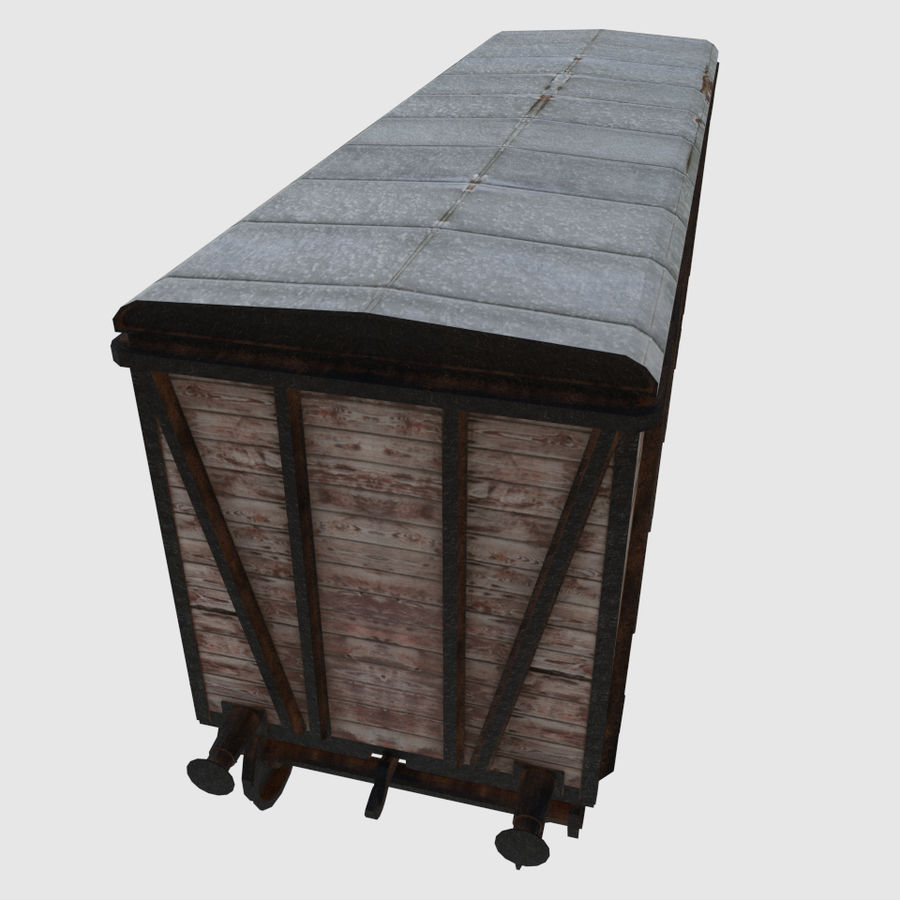 Cargo Train Wagon royalty-free 3d model - Preview no. 4
